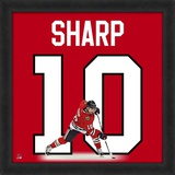 Patrick Sharp, Blackhawks photographic representation of the player's jersey Framed Memorabilia