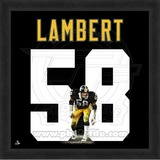 Jack Lambert, Steelers representation of the player's jersey Framed Memorabilia