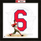 Stan Musial, Cardinals representation of the player's jersey Framed Memorabilia