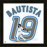 Jose Bautista, Blue Jays representation of the player's jersey Framed Memorabilia