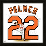 Jim Palmer, Orioles representation of the player's jersey Framed Memorabilia