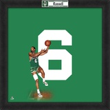 Bill Russell, Celtics  Representation of the player's jersey Framed Memorabilia