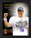 Eli Manning Super Bowl XLVI ProQuote Framed Memorabilia