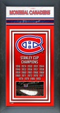 Montreal Canadiens Framed Championship Banner Framed Memorabilia