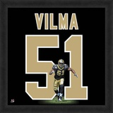 Jonathan Vilma, Saints representation of the player's jersey Framed Memorabilia