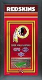 Washington Redskins Framed Championship Banner Framed Memorabilia