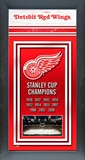 Detroit Red Wings Framed Championship Banner Framed Memorabilia