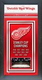 Detroit Red Wings Framed Championship Banner Framed Memorabilia