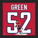 Mike Green, Capitals representation of the player's jersey Framed Memorabilia