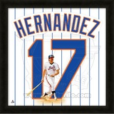 Keith Hernandez, Mets representation of the player's jersey Framed Memorabilia
