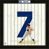 Mickey Mantle, Yankees representation of the player's jersey Framed Memorabilia
