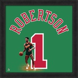Oscar Robertson, Bucks  Representation of the player's jersey Framed Memorabilia