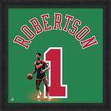 Oscar Robertson, Bucks  Representation of the player's jersey Framed Memorabilia