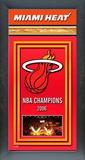 Miami Heat Framed Championship Banner Framed Memorabilia