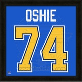 T.J. Oshie, Blues representation of the player's jersey Framed Memorabilia