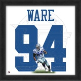 DeMarcus Ware, Cowboys representation of the player's jersey Framed Memorabilia