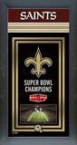 New Orleans Saints Framed Championship Banner Framed Memorabilia