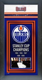 Edmonton Oilers Framed Championship Banner Framed Memorabilia