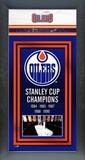 Edmonton Oilers Framed Championship Banner Framed Memorabilia