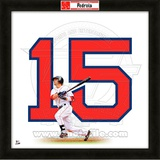 Dustin Pedroia, Red Sox representation of the player's jersey Framed Memorabilia