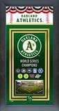Oakland Athletics Framed Championship Banner Framed Memorabilia