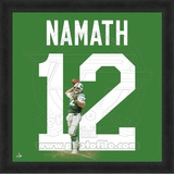 Joe Namath, Jets photographic representation of the player's jersey Framed Memorabilia