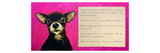 Chihuahua with a Blind Man in a Restaurant Giclee Print by Cathy Cute