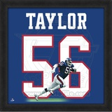 Lawrence Taylor, Giants representation of the player&#39;s jersey Framed Memorabilia