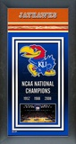 University of Kansas Jayhawks Framed Championship Banner Framed Memorabilia