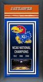 University of Kansas Jayhawks Framed Championship Banner Framed Memorabilia