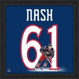 Rick Nash, Blue Jackets representation of the player&#39;s jersey Framed Memorabilia