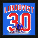 Henrik Lundqvist, Rangers photographic representation of the player&#39;s jersey Framed Memorabilia