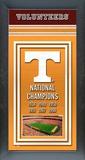 University of Tennessee Volunteers Framed Championship Banner Framed Memorabilia