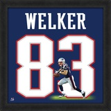 Wes Welker, Patriots representation of the player's jersey Framed Memorabilia