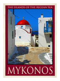 Church in Mykonos Greece 6 Giclee Print by Anna Siena