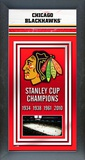 Chicago Blackhawks Framed Championship Banner Framed Memorabilia