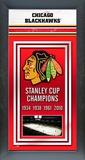 Chicago Blackhawks Framed Championship Banner Framed Memorabilia