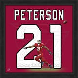 Patrick Peterson, Cardinals representation of the player's jersey Framed Memorabilia