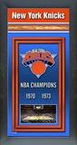 New York Knicks Framed Championship Banner Framed Memorabilia