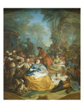 Picnic after the Hunt Print by Charles Andre Vanloo