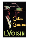 Cafes Chocolats L. Voisin Poster by Noel Saunier