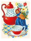 Tabletop Tea Setting Poster