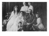 Tsar Nicholas and Alexandra Pose with Third Children before the Revolution Posters