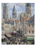 Rue De L'Epicerie, the Effect of Sunlight Affiches par Camille Pissarro