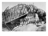 German Sappers and Engineers Rebuild Bridge at Lemberg Posters