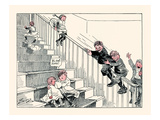 Sliding the Banisters Prints by Clare A. Briggs