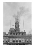 New York City Hall Tower on Fire Posters