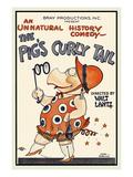 The Pig's Curly Tail Kunstdruck von Walter Lantz