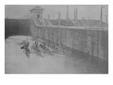 4 Us Navy Submarines in the Gatun Locks in the Panama Canal Prints