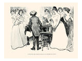 Is This Why the Average Husband and Brother Stay Away Prints by Charles Dana Gibson